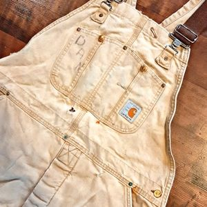 [Carhartt] Vintage 80's insulated overalls.
